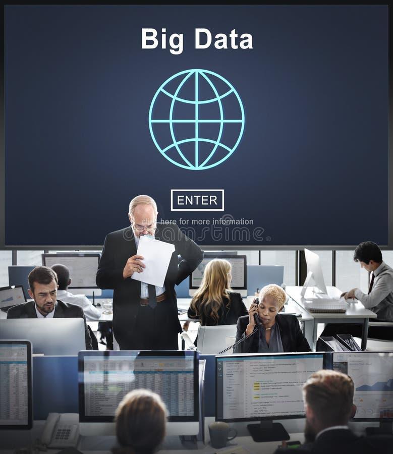Big Data Information Storage System Network Technology Concept stock photo
