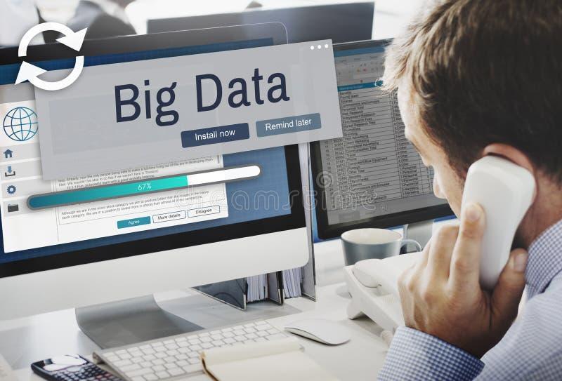 Big Data Information Storage System Technology Concept royalty free stock photo