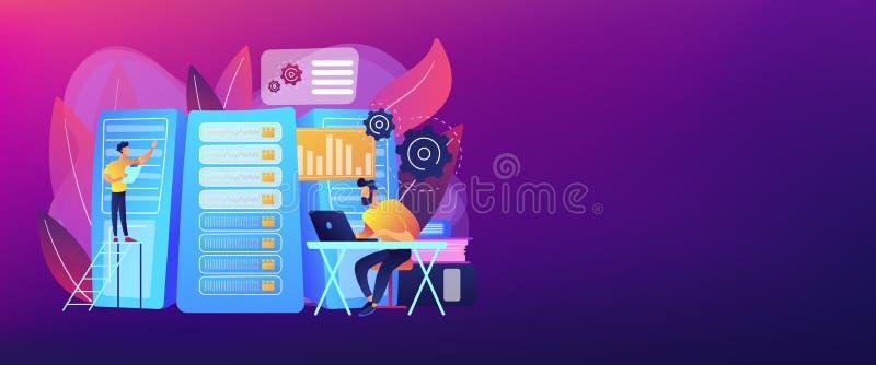 Big data job concept banner header. royalty free illustration