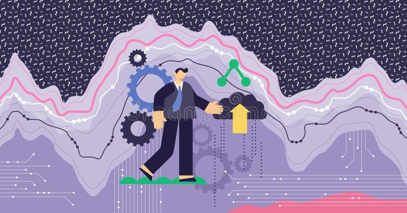 Big data modern abstract concept vector illustration vector illustration