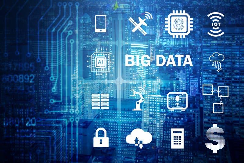 The big data modern computing concept stock image