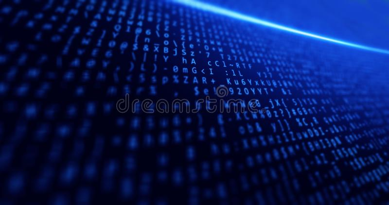 Big data, network, internet, business, background blue with data and concepts tech and light royalty free stock image