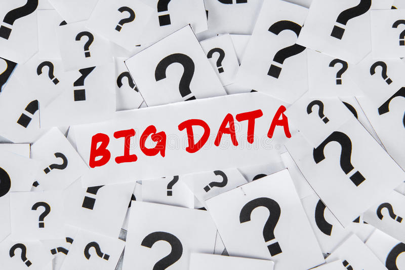 Big data with question sign royalty free stock images