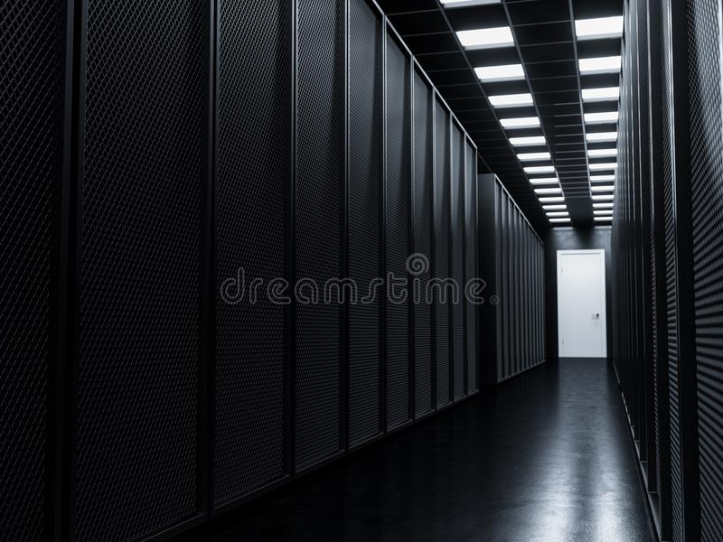 Download Big data server room stock illustration. Illustration of cyberspace - 102859877