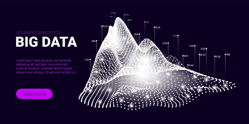 Big Data-Strom-Konzept, Gesch?ft Analytics stock abbildung