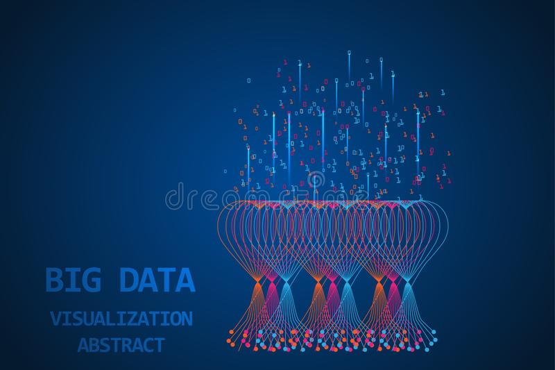 Big data technological digital abstract background. royalty free stock photo