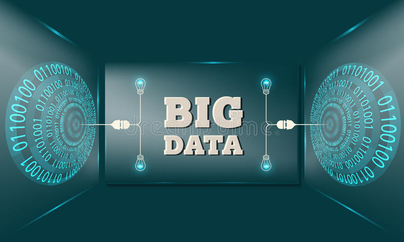 Big data royalty free illustration