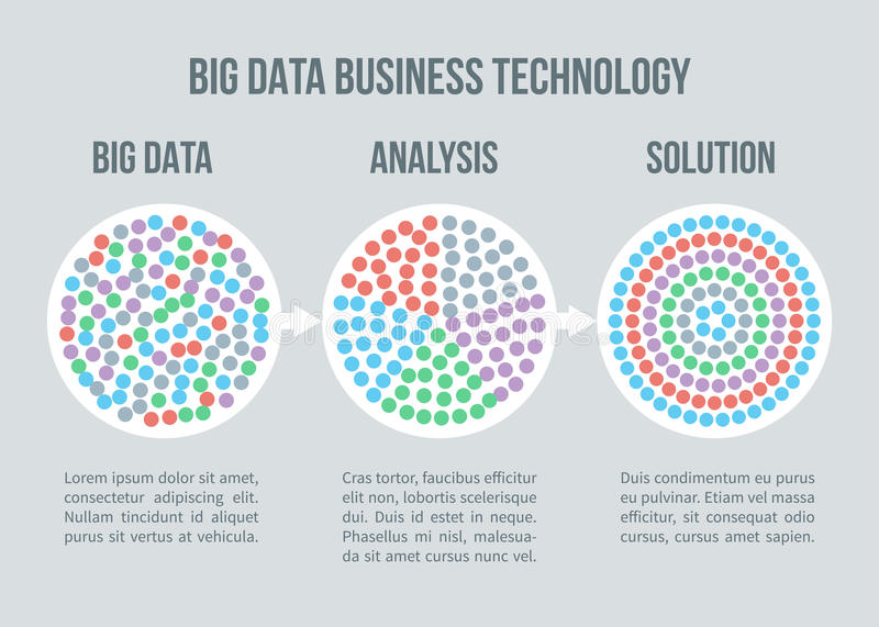 Big data vector concept. Business analytics, solution for smart planning royalty free illustration