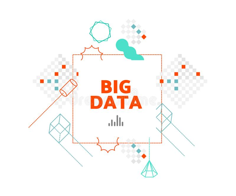 Big data vector illustration concept. vector illustration