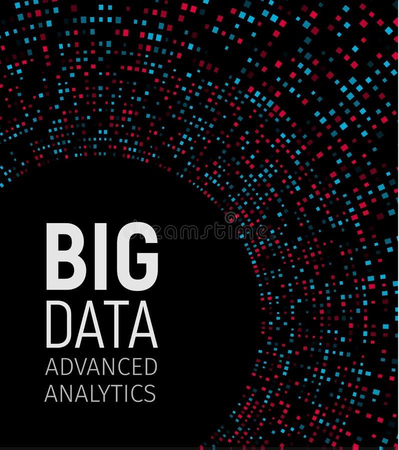 Big data visual energy fractals. Technology network infographic. Information analytics design. Vector illustration. royalty free illustration