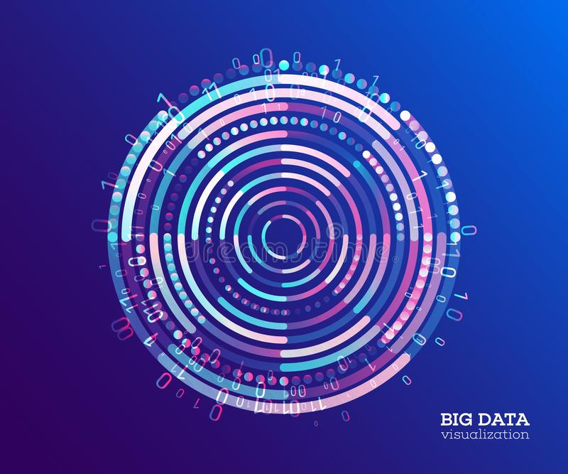 Big data visualization. Abstract background with dots array and stock illustration