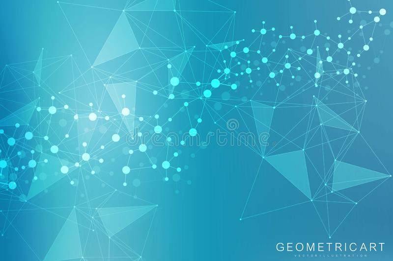 Big Data Visualization Background. Modern futuristic virtual abstract background. Science network pattern, connecting. Lines and dots. Global network connection vector illustration
