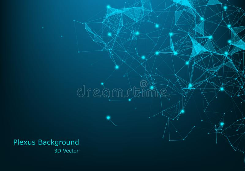 Big Data Visualization Background. Modern futuristic virtual abstract background. Science network pattern, connecting lines and royalty free illustration