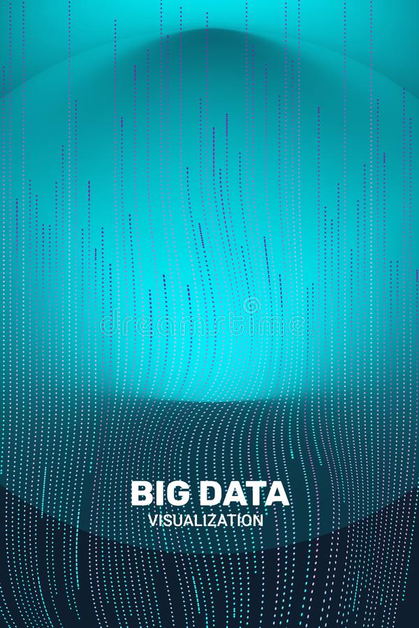 Big Data Visualization. 3D Futuristic Information. vector illustration