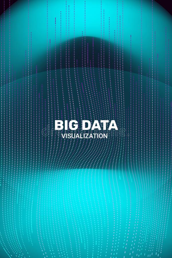 Big Data Visualization. 3D Futuristic Information. royalty free illustration