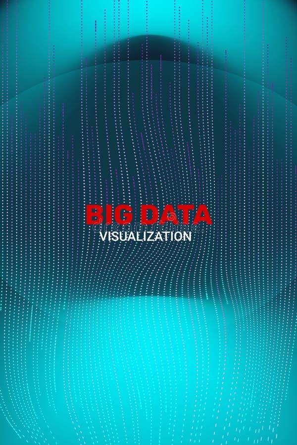 Big Data Visualization. 3D Futuristic Information. stock illustration