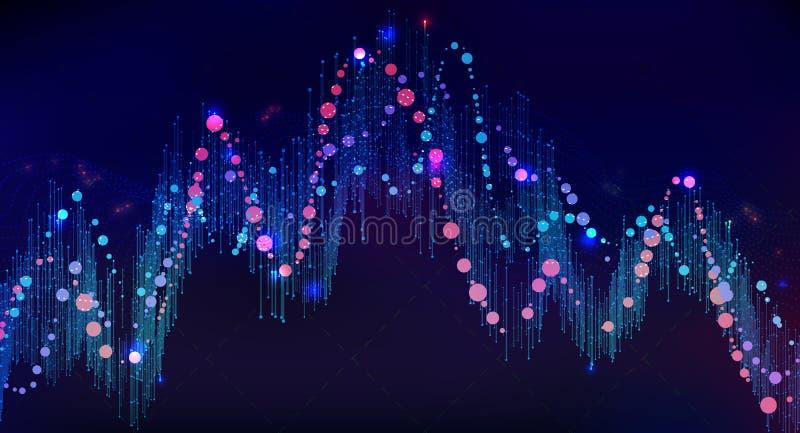 Big data visualization. Futuristic info graphic. Information aesthetic design. Visual data complexity. Complex data threads graphic visualization. Social royalty free stock image