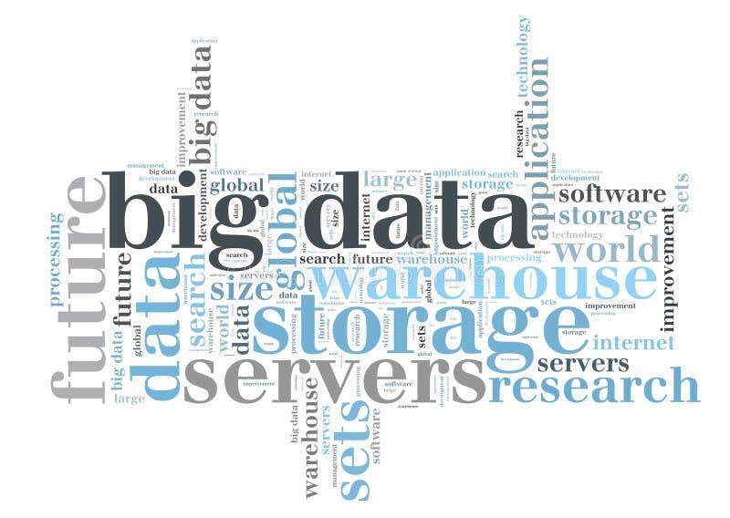 Big data word cloud royalty free illustration