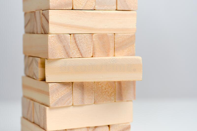 Big date concept with the completion of implementation. Wooden blocks on a white background background. Close up royalty free stock photography