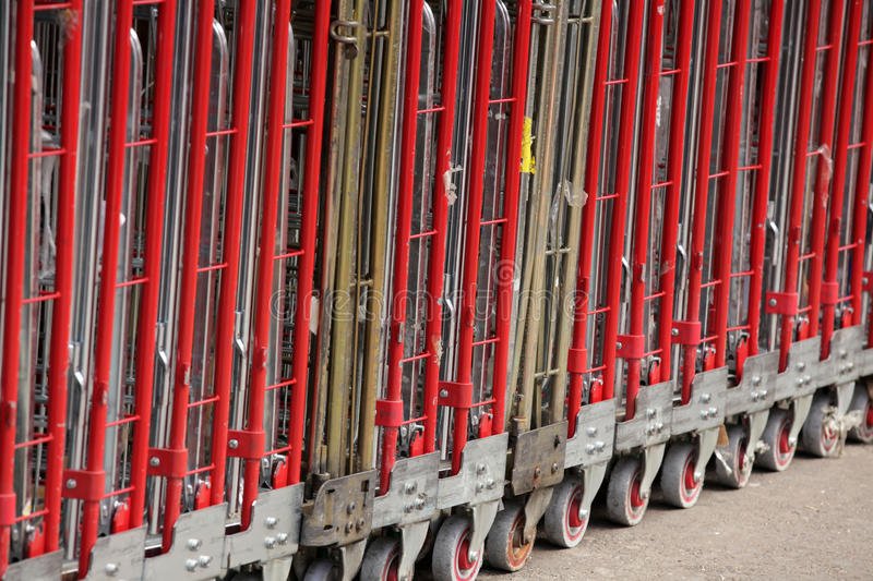 Download Big Delivery Trolleys Stock Image - Image: 32263031