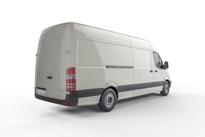 Big Delivery Van Mockup, layout for presentation stock illustration