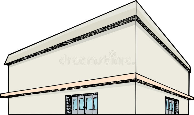 Big Department Store royalty free illustration