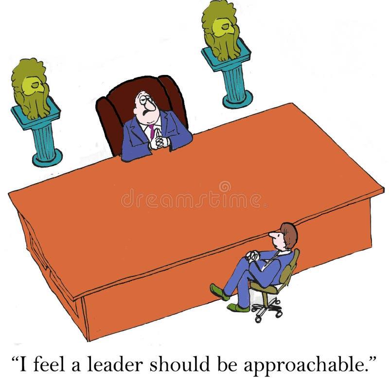 Big desk leader vector illustration