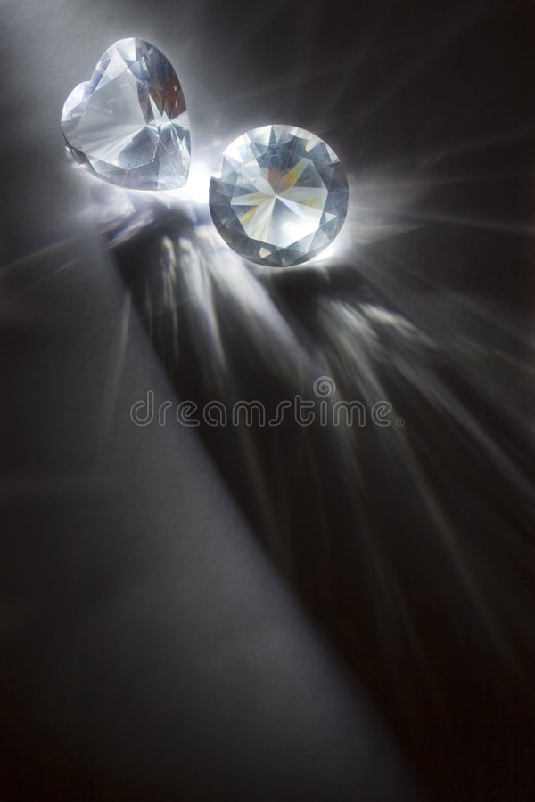 Big diamonds royalty free stock image