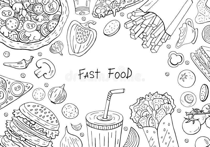 Hamburger Black White Stock Illustrations – 3,484 Hamburger