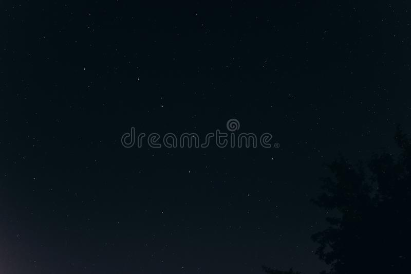 Big dipper on dark night sky full of stars. beautiful amazing ni royalty free stock photos