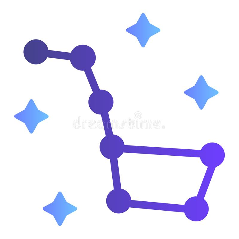 Big Dipper flat icon. Constellation Ursa Major color icons in trendy flat style. Stars gradient style design, designed. For web and app. Eps 10 royalty free illustration