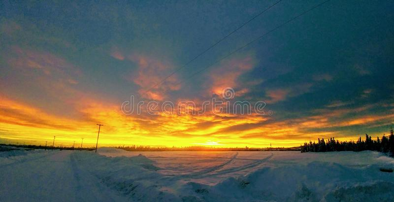 Big dipper ice rink stock photo