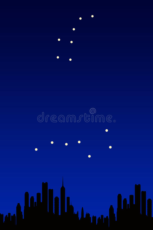 Big dipper, little dipper stock illustration