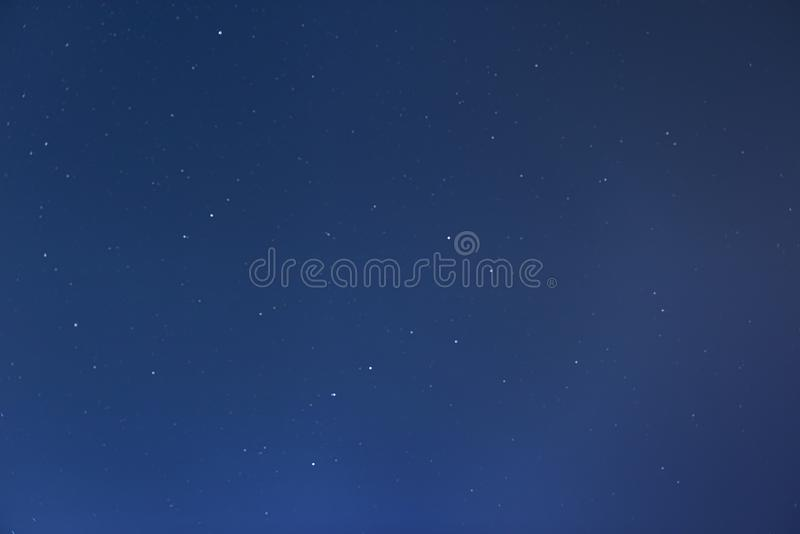 Big Dipper, Little Dipper & North Pole. Finland, Inari - Jan 219: Big Dipper, Little Dipper & North Pole visible in starry night sky royalty free stock photo