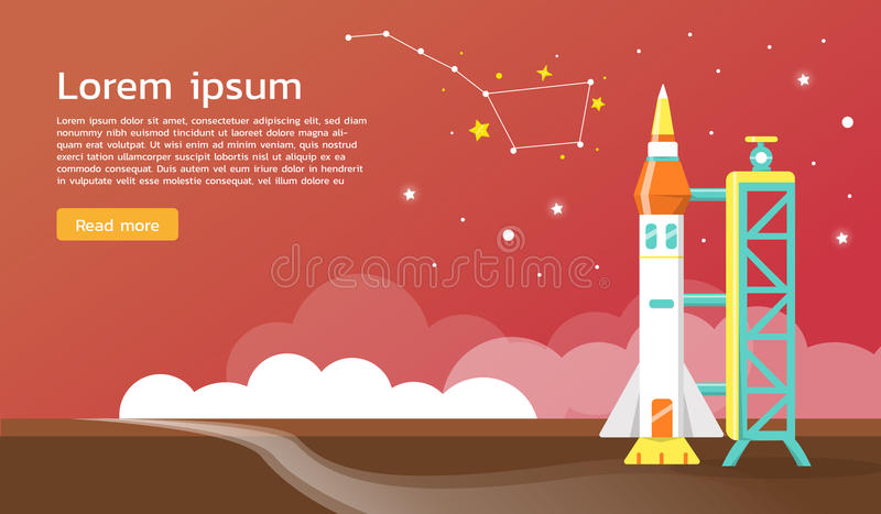 The big dipper and space shuttle illustration. design stock illustration
