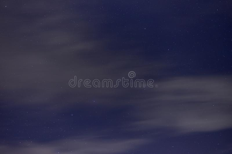 Big dipper. Stars and moving clouds on blue night sky. royalty free stock photos