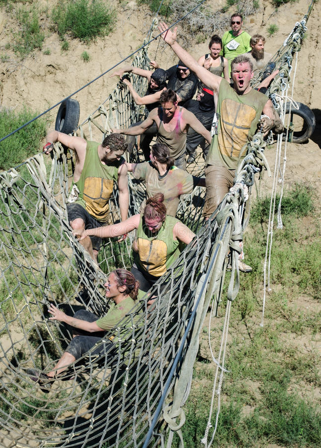 Big Dog Brag Mud Run, Colorado Springs, CO August 2014 royalty free stock photos