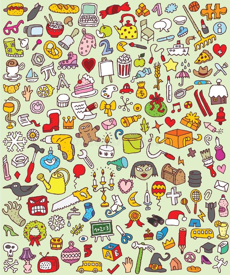 Download Big Doodle Icons Set stock vector. Illustration of file - 29987792