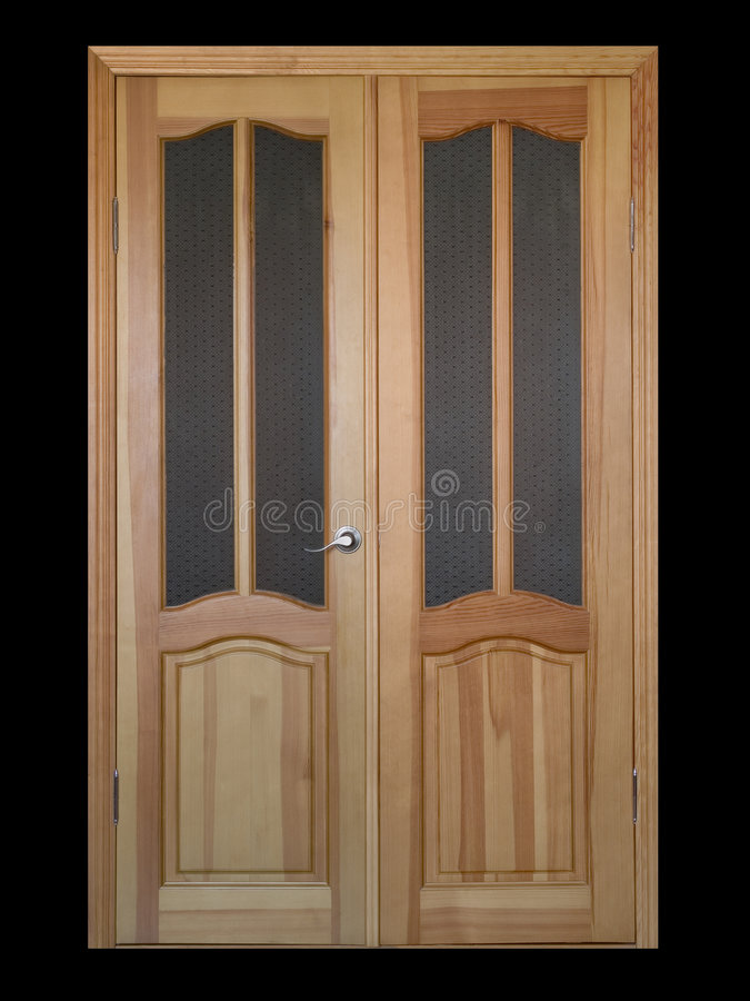 Big door over black stock image