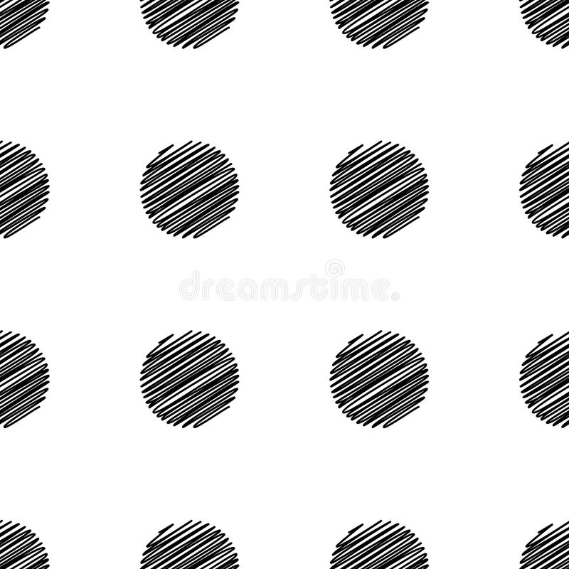 Big Dot seamless pattern. Abstract fashion black and white texture. Graphic style for wallpaper, wrapping, fabric, background, apparel, print production vector illustration