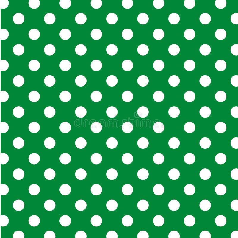 big dots green polka seamless white vektor illustrationer