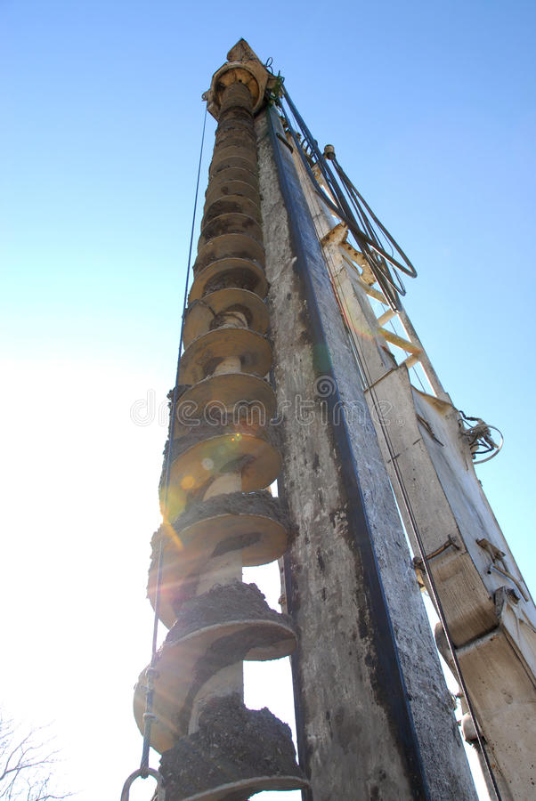 Big drill royalty free stock photography