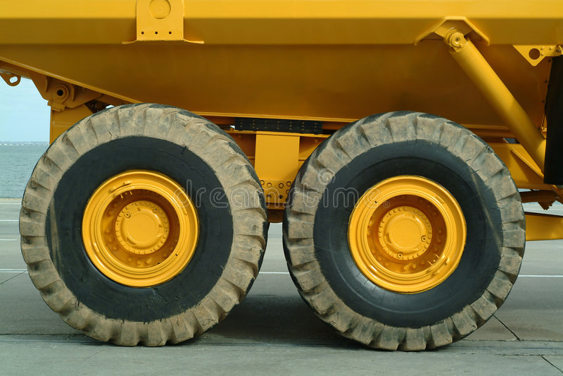 Big dumper truck stock photography