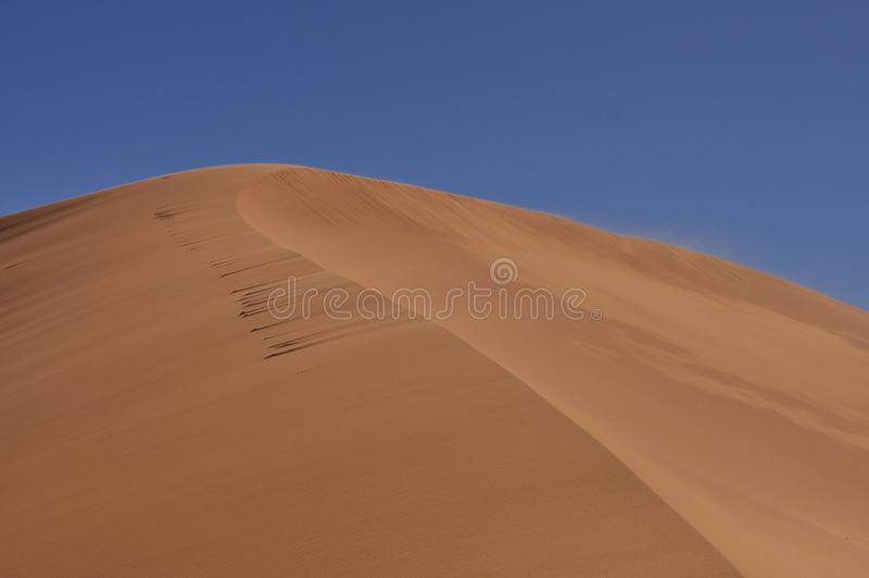 Big dune Sahara desert royalty free stock image
