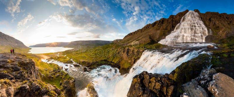 Big Dynjandi waterfall in Iceland.  royalty free stock photography