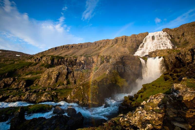Big Dynjandi waterfall in Iceland.  stock images