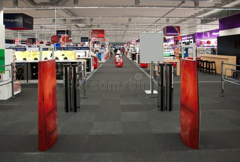 Big electronic retail store royalty free stock photo