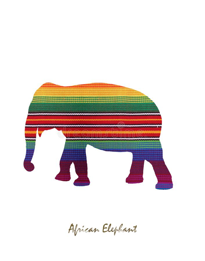 Big elephant image with colors stock photography