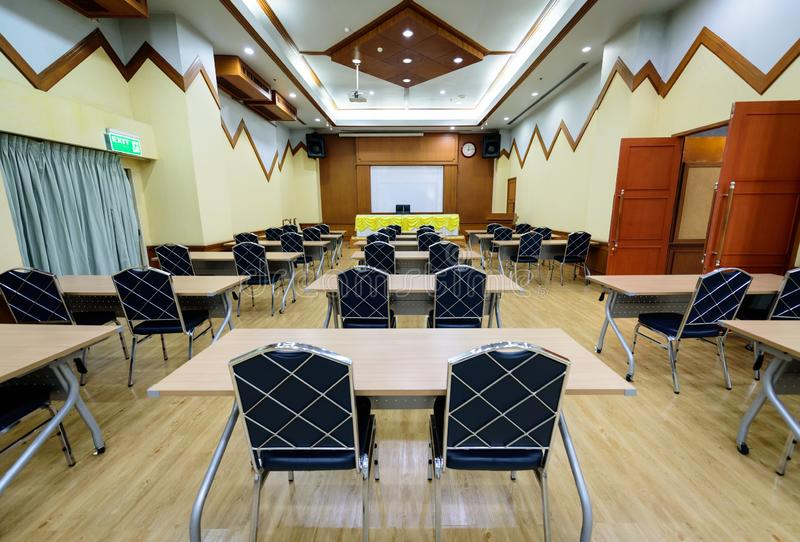 The big empty meeting room with many chair royalty free stock images