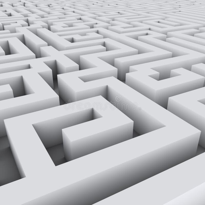 Big endless white maze background. vector illustration